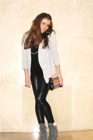 black BLANCO leggings - silver Sfera blazer