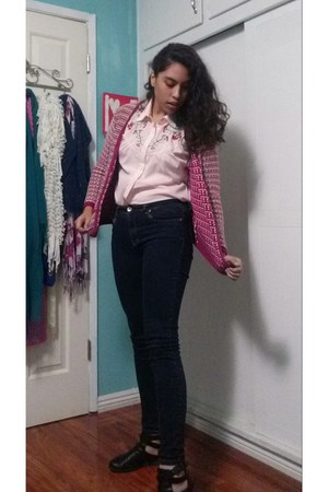 black Call it Spring boots - bubble gum Target cardigan