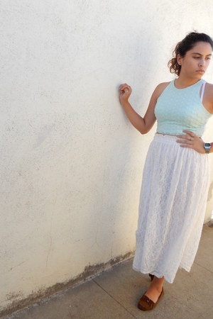 lace midi Sheinside skirt - crop top Forever 21 top