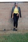 Yellow-jcpenney-top-black-levis-pants