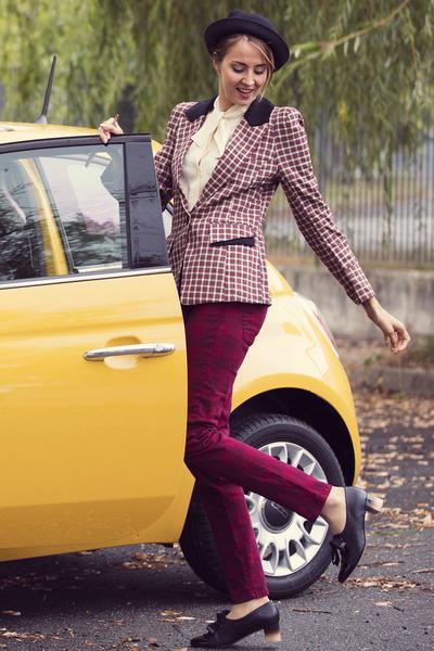 asos hat - PERSUNMALL jacket - Zara pants