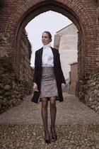 gray python pattern skirt - Elisabetta Franchi coat