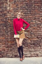tawny wild shoes - tawny nolita skirt - ruby red PERSUNMALL blouse