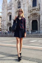 brick red les marais blazer - black carlo pazolini shoes - black Gucci bag