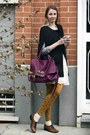 Brick-red-zanellato-bag-mustard-calzedonia-stockings-black-cape