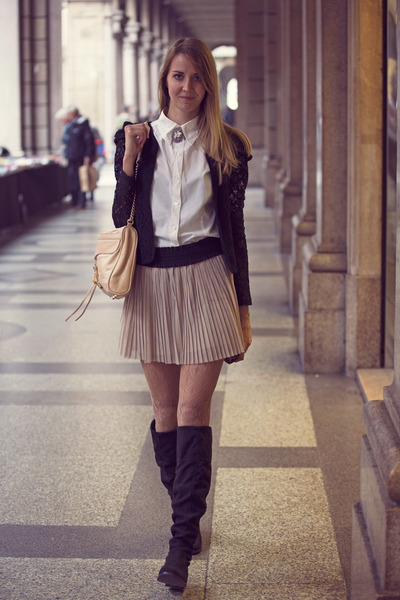 Pennyblack boots - Tommy Hilfiger shirt - Rebecca Minkoff bag