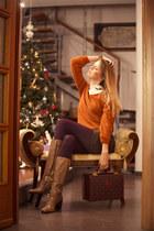 cesare paciotti boots - Choies sweater - stamerra bracelet