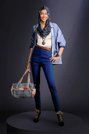 shoes - jeans - jacket - bag - belt - top