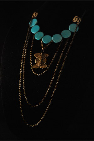 sky blue necklace