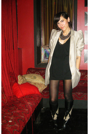 H&M blazer - 8020 boots - American Apparel dress - Urban Outfitters necklace