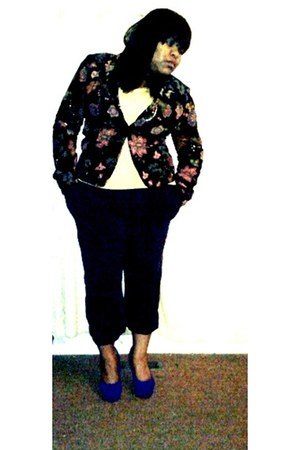 thrifted blazer - Forever 21 shirt - thrifted pants