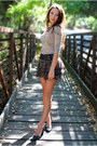 Beige-group-usa-top-black-moms-belt-puce-target-skirt-black-aldo-heels