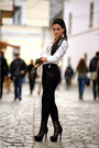 Zara-jacket-zara-leggings-h-m-gloves-botinelli-heels-orsay-accessories
