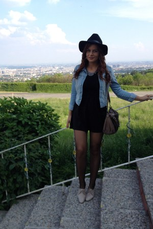 H&M dress - H&M hat - H&M jacket - united colors of benetton bag