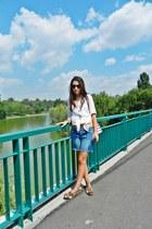 Bershka shirt - Deichmann shoes - kenvelo jeans - no name sunglasses