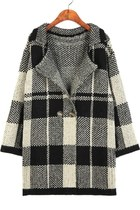 Retro Plaid Knitted Cardigan