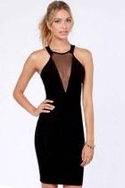 Cutout Halter Little Black Dress