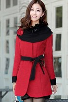 Elegant Sweet Winter Essential Belted Coat
