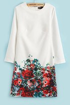OASAP 2014 3/4 Sleeve Floral Dress