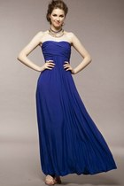 Elegant Ruched Strapless Maxi Dress