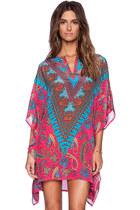 Paisley Print Handkerchief-Hem Dress