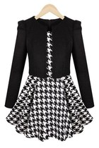 Graceful Houndstooth A-line Dress