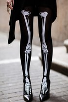Personalized Lifelike Skeleton Print Skinny Legging Socks