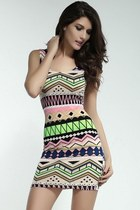 Tribal Cutout Tank Dress