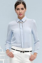 OASAP Cutout Button-up Chiffon Shirt