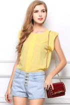 Candy Color Sleeveless Shirt