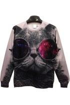 Cool Cat Graphic Sweatshirt