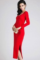 Stunning Red Backless Dress