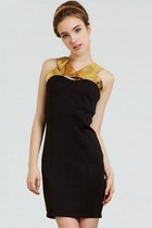 Glitter PU Paneled Bodycon Dress