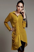 2013 New fashion Irregular Pleated Chiffon Tunic
