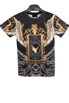OASAP  Vintage Bird Wings Print Tee