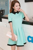 Contrast Slim Dress