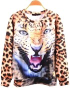 Personalized Angry Leopard Sweatshirt