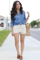 Vintage High Waist Lace Shorts