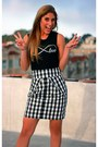 Brandy-melville-top-checked-skirt-anthropologie-skirt-nine-west-pumps