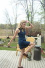Blue-american-eagle-dress-beige-betsey-johnson-tights-brown-thrifted-shoes-