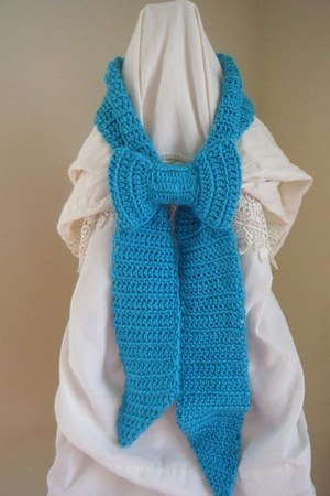 worsted yarn OemiN Couture scarf