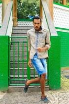 blue Dmarkas shorts - light blue jacket