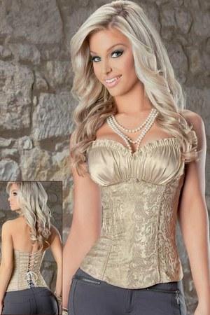 beige corset Tesa top