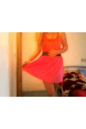high waisted fb sister skirt - shirt
