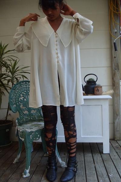 dress - columbine tights - go crazy shoes