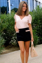 light pink Zara blouse - light pink Louis Vuitton bag - black Forever 21 shorts
