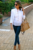 Michael Kors bag - hollister jeans - Zara jacket - Ray Ban sunglasses