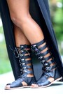 Black-side-slit-maxi-nordstrom-dress-black-gladiator-urbanog-sandals
