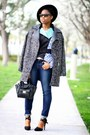 aquamarine Peter Pilotto jacket - dark gray Steve Madden coat