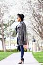 Dark-gray-steve-madden-coat-navy-hart-denim-jeans-black-target-hat